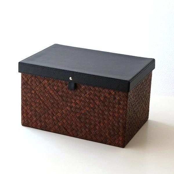 小物入れ ふた付き おしゃれ 収納ボックス ストレージボックス おもちゃ お片付け 幅35 奥行25 高さ20 フタ付きBOX オリエ [cle9338]