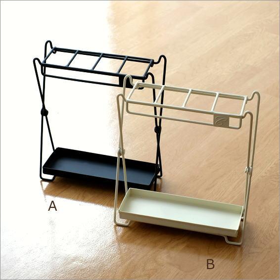 アイアン折り畳み傘立て 2カラー [cle9954]