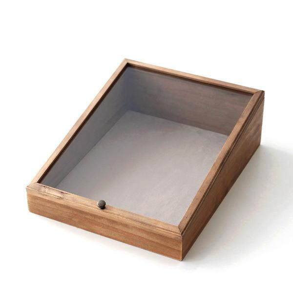 ディスプレイケース 木製 おしゃれ かわいい コレクションケース 卓上 マルチ アクセサリーケース 天然木 アクセサリー ウッドディスプレイケース [cle9996]