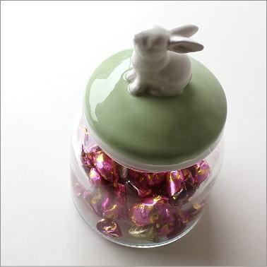 キャニスター ガラス 保存容器 ガラス瓶 小物入れ うさぎ 雑貨 グッズ ウサギ ラビットガラスキャニスター