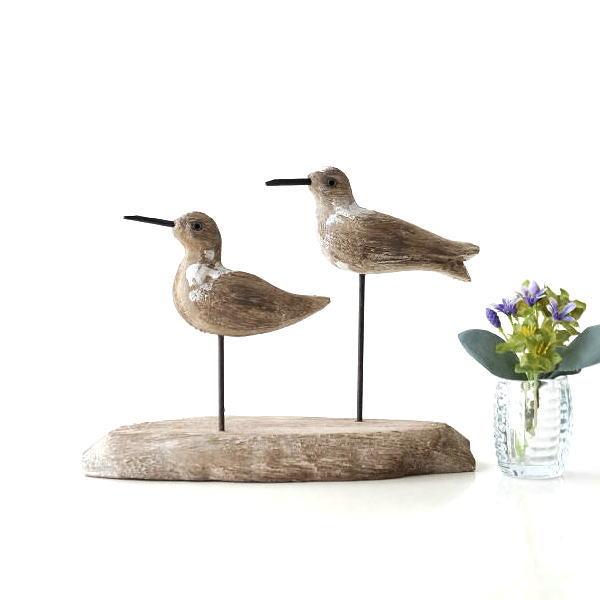 鳥 置物 オブジェ 雑貨 木製 かわいい おしゃれ ウッド オブジェ ペア ウッドオブジェ ナチュラル インテリア ナチュラルウッドのペアバード [cov2998]