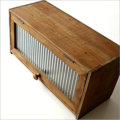 木製小物入れ 天然木ボックス 扉 BOX 素朴なウッドケース