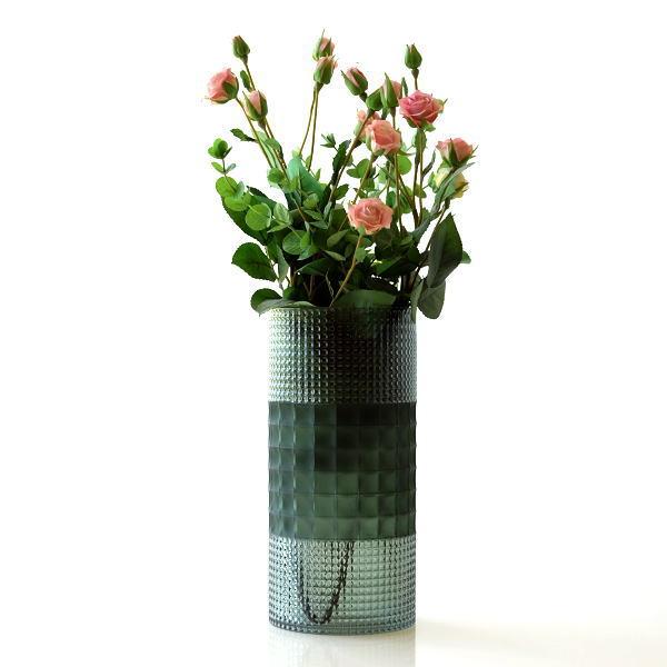 花瓶 フラワーベース ガラス おしゃれ 円柱 円筒形 花器 フォレストシリンダーベース [cov6588]