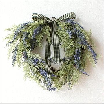リース 玄関 フェイクグリーン おしゃれ かわいい リボン 壁飾り インテリア 造花 人工観葉植物 ラベンダーリース ハート