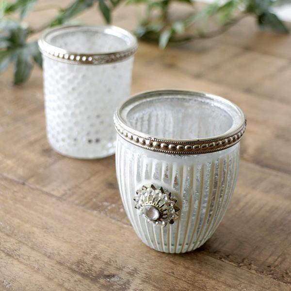 キャンドルホルダー ガラス アイアン アンティーク おしゃれ かわいい インテリア ガラスキャンドルホルダー 2タイプ [cov9600]