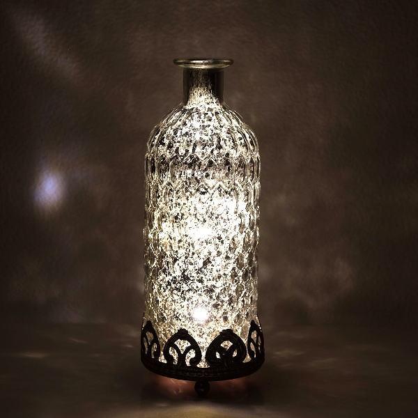 LEDライト アンティーク おしゃれ インテリア 照明 ランプ 雑貨 卓上 かわいい クラシック フロスティLEDボトル [cov9664]