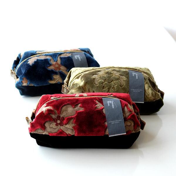 ポーチ 小物入れ ベルベット 金華山織り おしゃれ 大き目 化粧ポーチ ボタン 和柄 和風 かわいい 日本製 金華山織りスクエアポーチ3タイプ [crg2890]