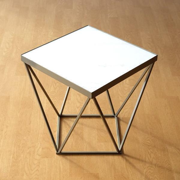 アイアンと大理石のテーブル 【送料無料】 [dcr2259]