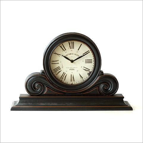 アンティークなウッドの置き時計 【送料無料】
