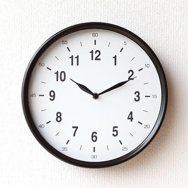 壁掛け時計 掛け時計 北欧 おしゃれ シンプル 見やすい モノトーン メタルウォールクロック ポコアポコ [dcr3843]