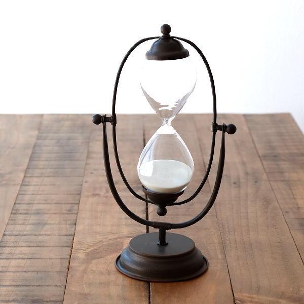 砂時計 おしゃれ アンティーク レトロ オブジェ 置物 アイアンのスウィング砂時計 [dcr5236]