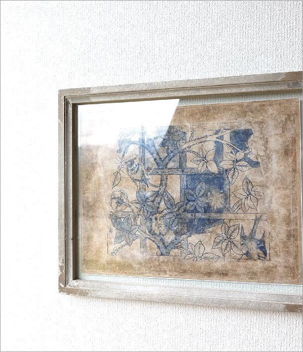 アートポスター アンティーク レトロ アートフレーム 額縁 壁掛け インテリア 壁飾り アンティークなボタニカルフレーム4タイプ [dcr5280]