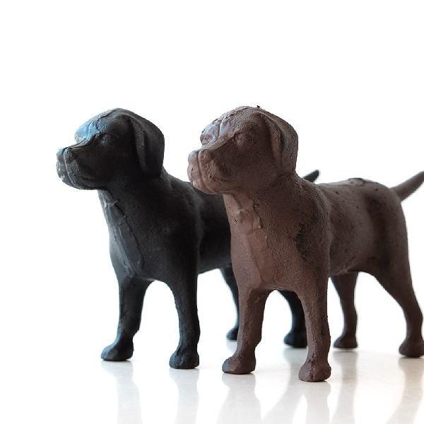 犬 置物 オブジェ アイアン鋳物 玄関 インテリア ガーデニング アイアン犬の置物 2カラー [dcr6200]