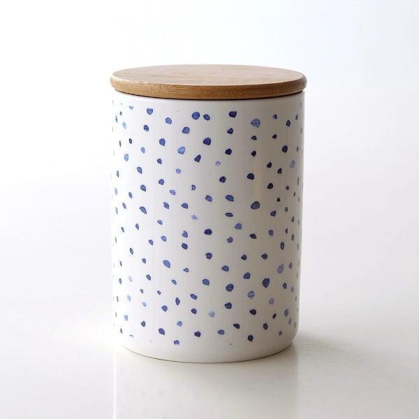 キャニスター 陶器 保存容器 おしゃれ ストッカー 小物入れ ふた付き フタ付 陶器のキャニスター B [dcr7787]