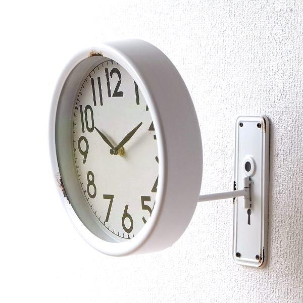壁掛け時計 掛け時計 スイング 可動式 レトロ シャビー アイアン アンティーク風 掛け時計 スウィング [dcr9981]