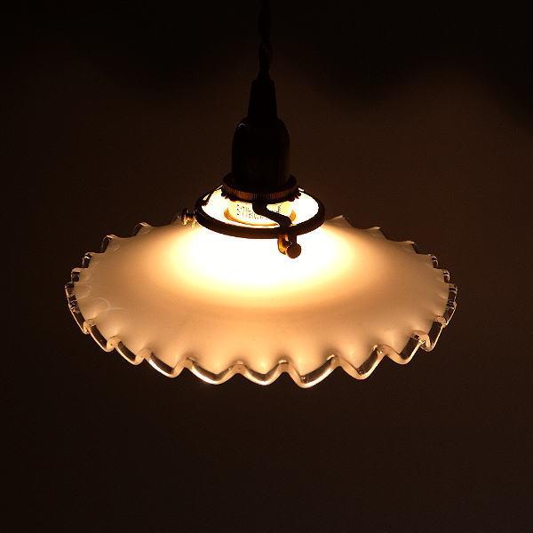 ペンダントライト ガラス アンティーク レトロ カフェ風 LED対応 おしゃれ ダイニング キッチン トイレ 玄関 寝室 ガラスのペンダントライト 7005 [diz0748]