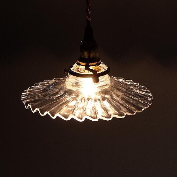ペンダントライト ガラス アンティーク レトロ カフェ風 LED対応 おしゃれ ダイニング キッチン トイレ 玄関 寝室 ガラスのペンダントライト 7003 [diz0933]