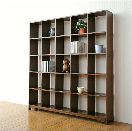 ディスプレイラック 飾り棚 CDラック オープンシェルフ 木製 オークディスプレイラックL【送料無料】