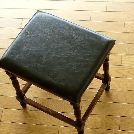 ドレッサー用椅子 いす イス チェア アンティーク おしゃれ 木製 オークドレッサースツール【送料無料】