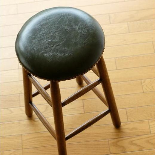 ハイスツール 木製 スツール 丸椅子 おしゃれ カウンターチェア カウンタースツール アンティーク レトロ オークハイスツール 【送料無料】 [diz4331]