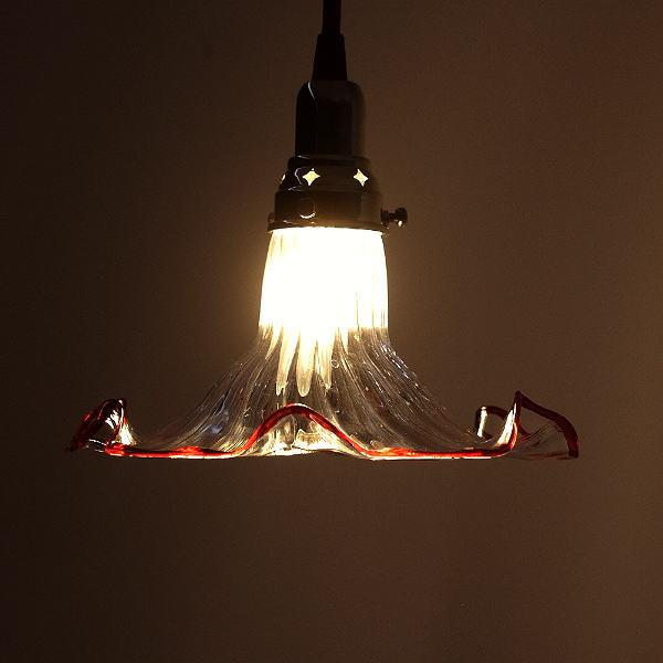 ペンダントライト ガラス アンティーク レトロ カフェ風 LED対応 おしゃれ ダイニング キッチン トイレ 玄関 寝室 ガラスのペンダントランプ 1040 [diz5252]