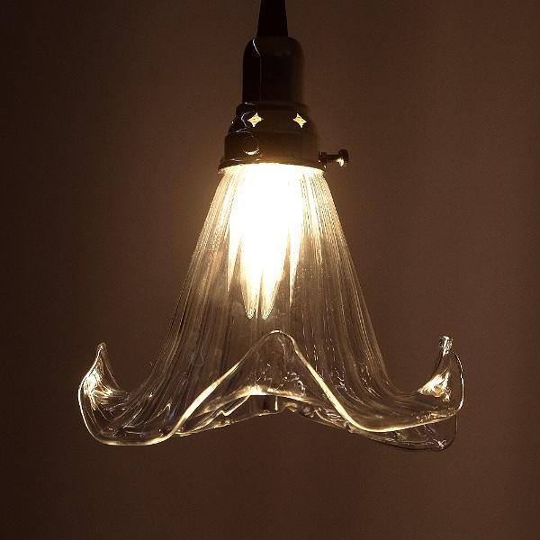 ペンダントライト ガラス アンティーク レトロ カフェ風 LED対応 おしゃれ ダイニング キッチン トイレ 玄関 寝室 ガラスのペンダントランプ 1042 [diz6219]