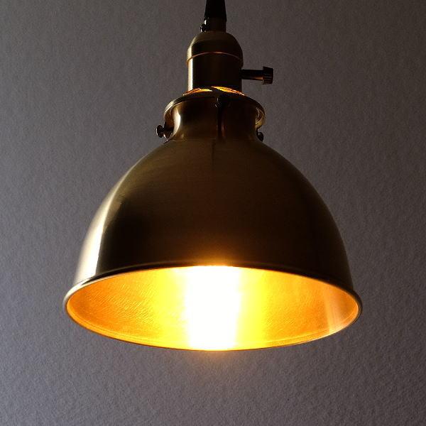 ペンダントライト 真鍮 アンティーク レトロ カフェ風 LED おしゃれ シンプル モダン ダイニング キッチン トイレ 玄関 寝室 ブラスペンダントランプ 081 【送料無料】 [diz6236]