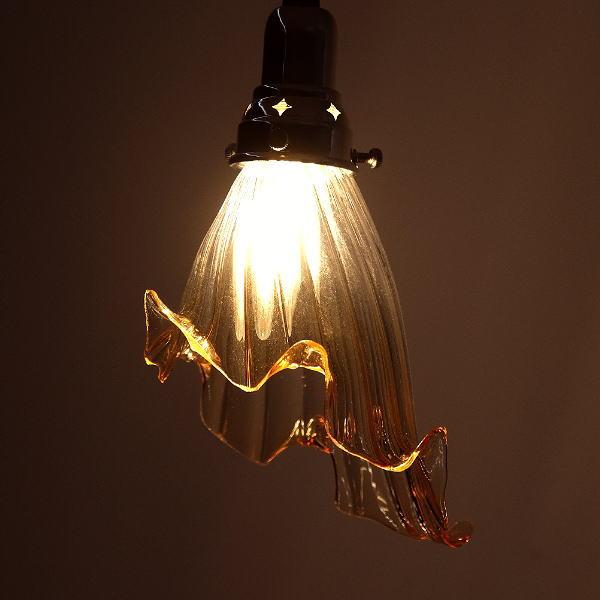 ペンダントライト ガラス アンティーク レトロ カフェ風 LED対応 おしゃれ ダイニング キッチン トイレ 玄関 寝室 ガラスのペンダントランプ 1044 [diz7144]