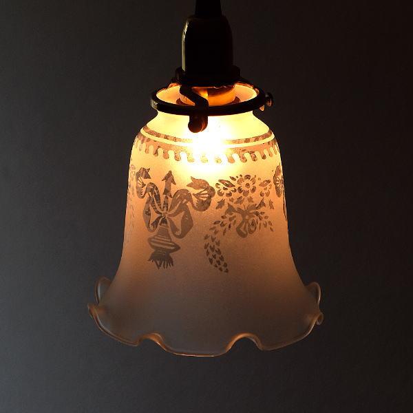 ペンダントライト ガラス アンティーク レトロ カフェ風 LED対応 おしゃれ ダイニング キッチン トイレ 玄関 寝室 ガラスのペンダントライト 194 [diz8160]