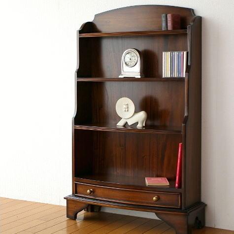 本棚 木製 飾り棚 飾棚 天然木 無垢 マホガニーオープン本棚【送料無料】