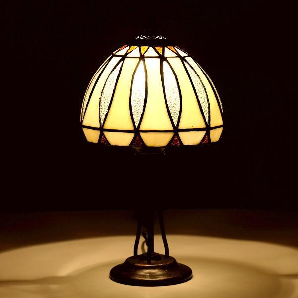 ステンドグラス ランプ 照明 ランプスタンド テーブルランプ アンティーク 大正ロマン おしゃれ ベッドサイドランプ ステンドグラステーブルランプA 【送料無料】 [ebn0485]