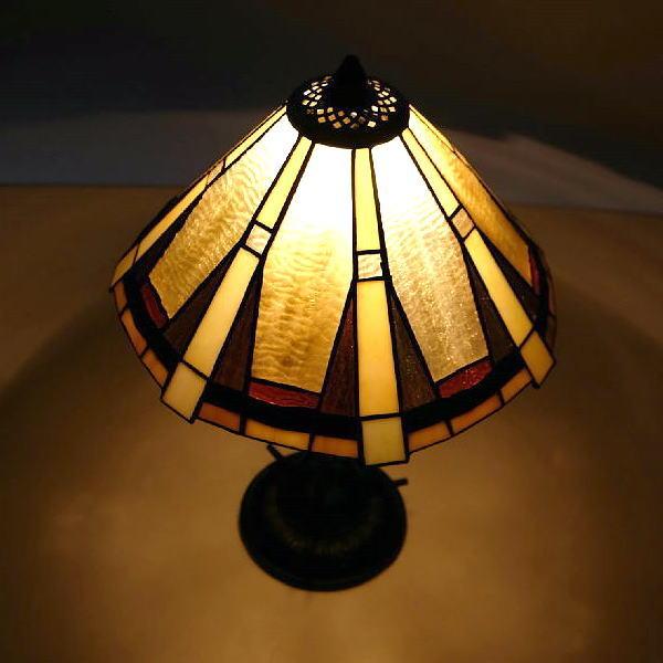 ステンドグラス ランプ 照明 ランプスタンド テーブルランプ アンティーク おしゃれ エレガント クラシック ベッドサイドランプ ステンドグラステーブルランプ D 【送料無料】 [ebn0665]
