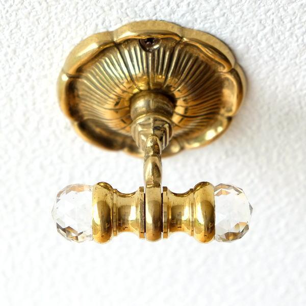 フック 壁 真鍮 壁掛けフック おしゃれ アンティーク ゴールド エレガント クラシック 真鍮の壁掛フック [ebn0952]