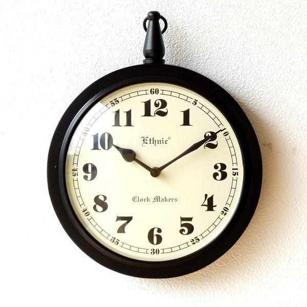 掛け時計 おしゃれ 木製 シンプル レトロ クラシック ナチュラル カフェ ヨーロピアン ウォールクロック シンプル [ebn0964]