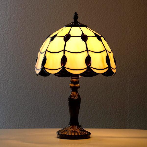 ステンドグラス ランプ 照明 ランプスタンド テーブルランプ アンティーク 大正ロマン おしゃれ ベッドサイドランプ ステンドグラステーブルランプ C 【送料無料】 [ebn1434]