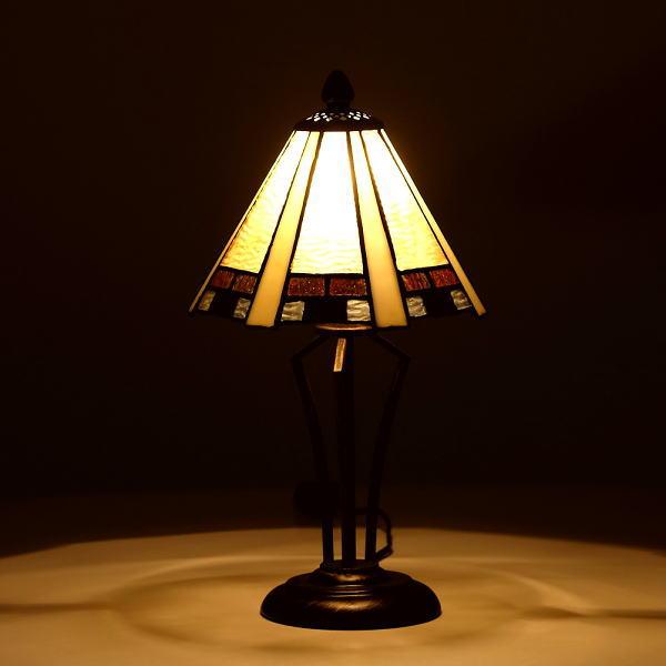 ステンドグラス ランプ 照明 ランプスタンド テーブルランプ アンティーク 大正ロマン おしゃれ ベッドサイドランプ ステンドグラステーブルランプB 【送料無料】 [ebn1634]