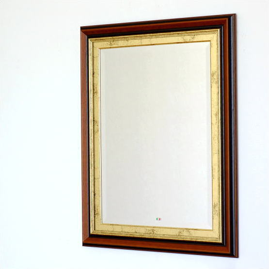 鏡 壁掛けミラー ウォールミラー アンティーク おしゃれ イタリア製 ビッグなスクエアミラー【送料無料】