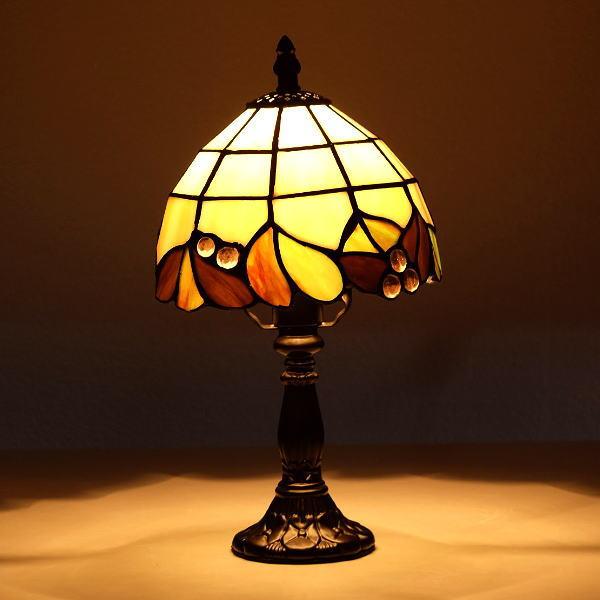テーブルランプ おしゃれ ステンドグラス 照明 ランプスタンド エレガント クラシック ステンドグラステーブルランプ E 【送料無料】 [ebn2390]