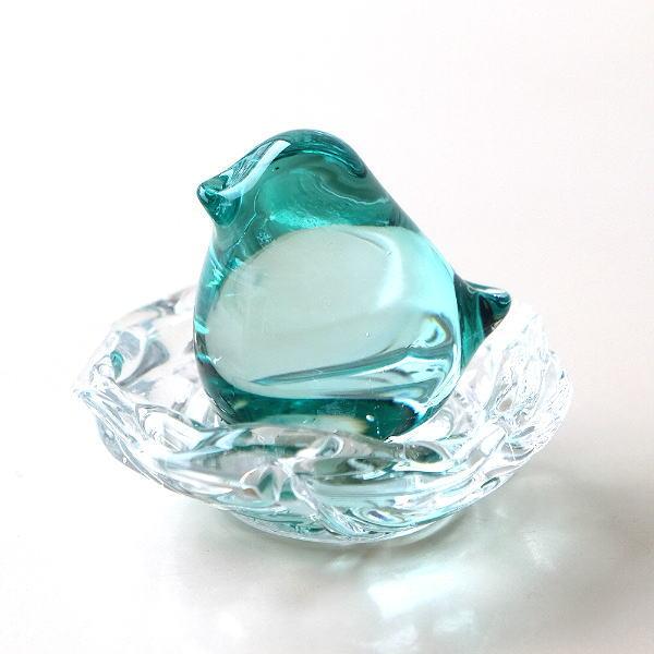 鳥 置物 オブジェ ガラス かわいい インテリア 雑貨 ガラスのオブジェ バード A [ebn3837]
