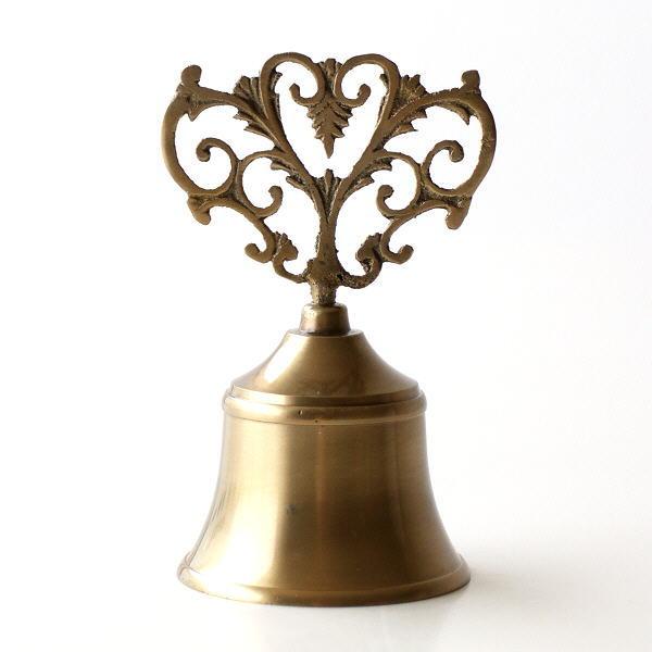 ハンドベル 呼び鈴 ブラス コールベル カウンターベル 卓上ベル 真鍮 呼び出し 玄関 エントランス ブラスハンドベル C [ebn4289]