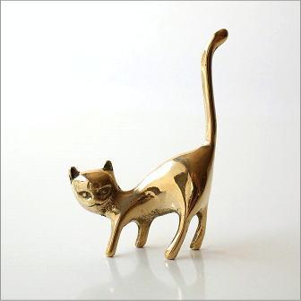 真鍮のリングホルダー ネコ