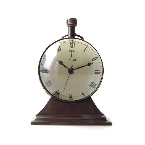 置き時計 おしゃれ アナログ アンティーク クラシック レトロ 真鍮のテーブルクロック G [ebn5324]
