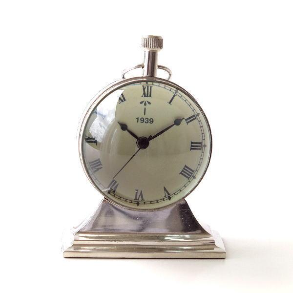 置き時計 おしゃれ アナログ アンティーク クラシック レトロ 真鍮のテーブルクロック F [ebn5326]