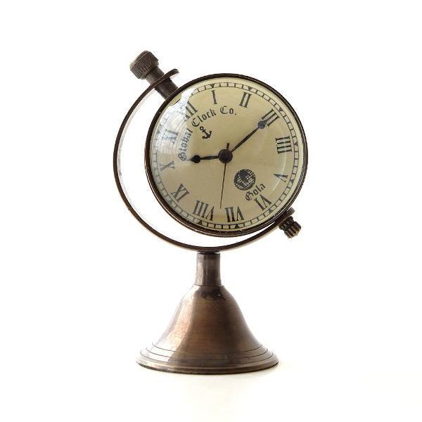 真鍮のテーブルクロック E [ebn5328]