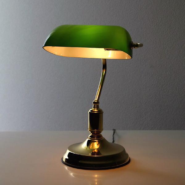 バンカーズライト おしゃれ テーブルランプ デスクランプ アンティーク レトロ ヨーロピアン クラシック 卓上 寝室 照明 ベッドサイドランプ バンカーズランプ [ebn5329]