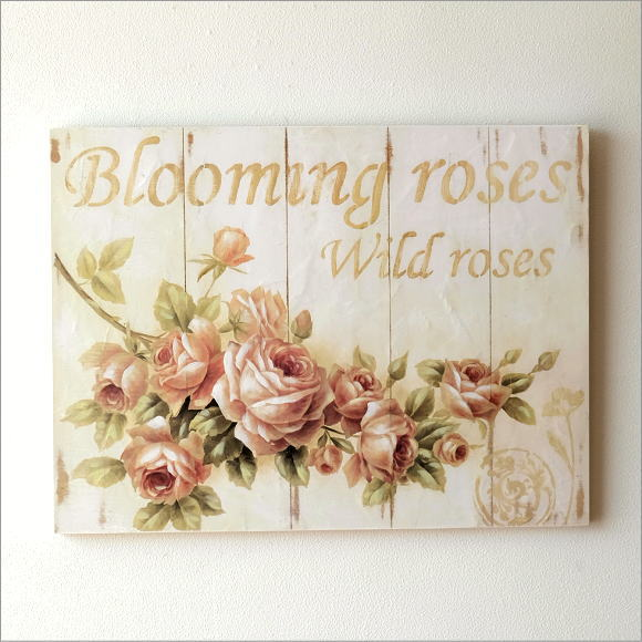 アートパネル 花 バラ 薔薇 おしゃれ 壁飾り 絵 ウォールパネル ウォールデコ 壁掛け インテリア ウォールアート アンティークなアートパネル ローズ