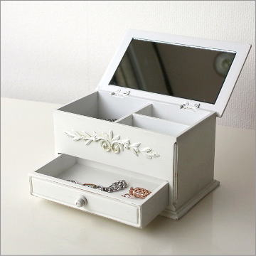 ホワイトウッドの小物ボックス [ebn8479]