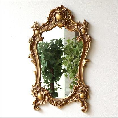 壁掛け鏡 エレガントミラー ゴールド