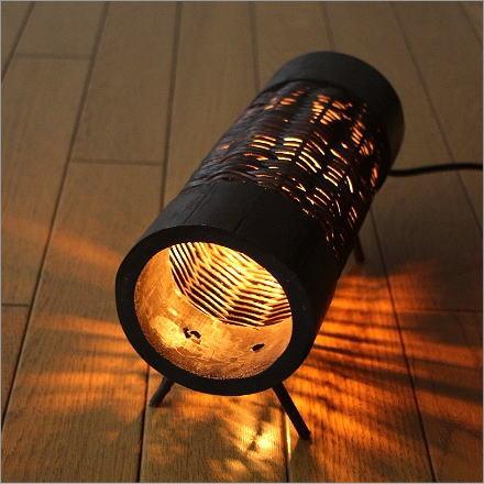 間接照明 リビング テーブルスタンド フロアスタンド アジアン 和風 玄関 寝室 ホースランプ(ラタン)