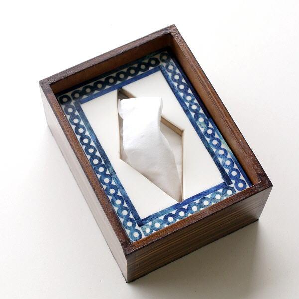 ポケットティッシュケース おしゃれ 木製 箱 ふた付き 天然木 小さい コンパクト ボーンとウッドのポケットティッシュBOX B [gfc0474]
